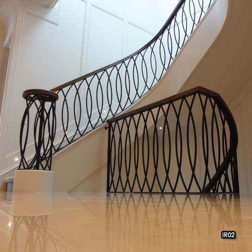 Miliano design ltd interior iron railings wrought iron for Interior iron railing designs